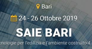 SAIE Bari 2019: iniziative e numeri della Fiera sulle tecnologie per l'edilizia e l'ambiente costruito 4.0